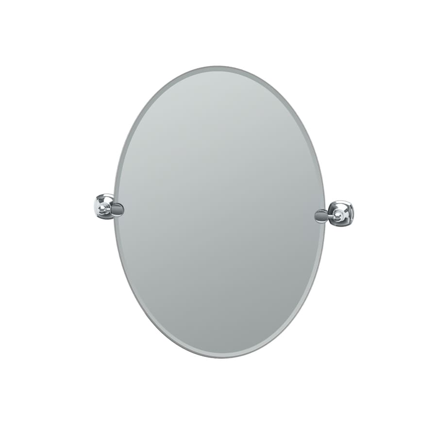 Gatco Lucerne 19.5-in x 26.5-in Oval Frameless Bathroom Mirror