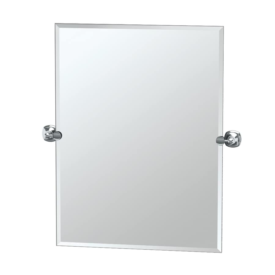 Gatco Lucerne 23.5-in W x 31.5-in H Rectangular Tilting Frameless Bathroom Mirror with Chrome Hardware and Beveled Edges