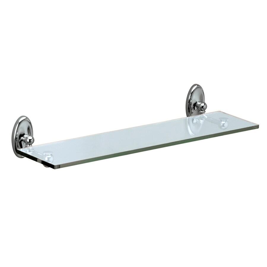 Gatco Camden Chrome Glass Bathroom Shelf