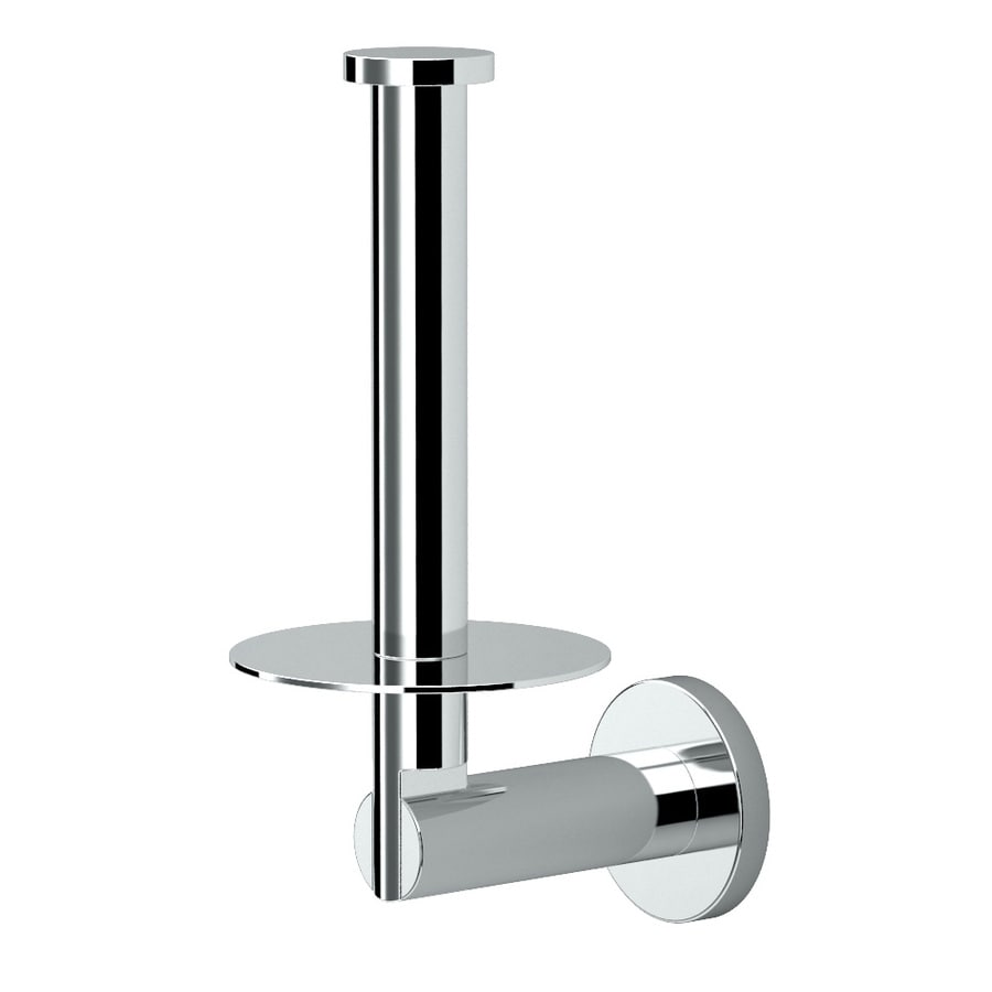 Gatco Channel Chrome Surface Mount Single Post with Arm Toilet Paper Holder
