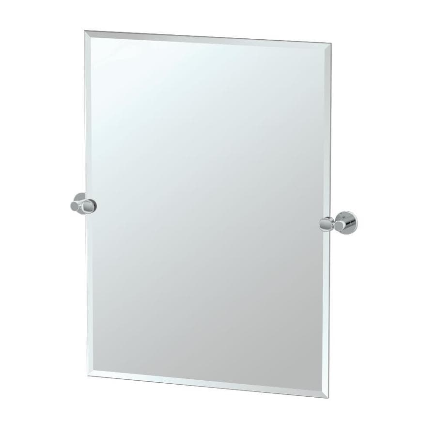 Frameless Bathroom Mirror Shop Gatco Channel 235 In X 315 In Rectangular Frameless