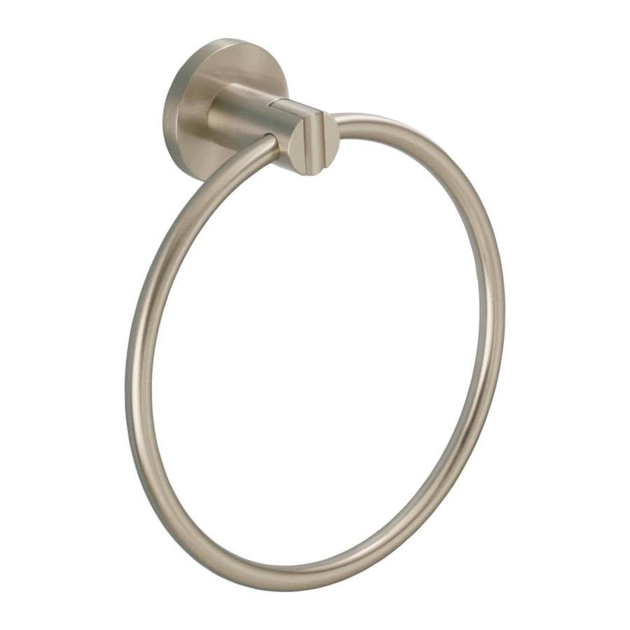 Gatco Channel Satin Nickel Wall Mount Towel Ring
