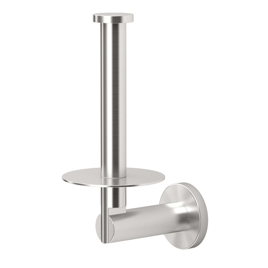 Gatco Channel Satin Nickel Surface Mount Single Post with Arm Toilet Paper Holder