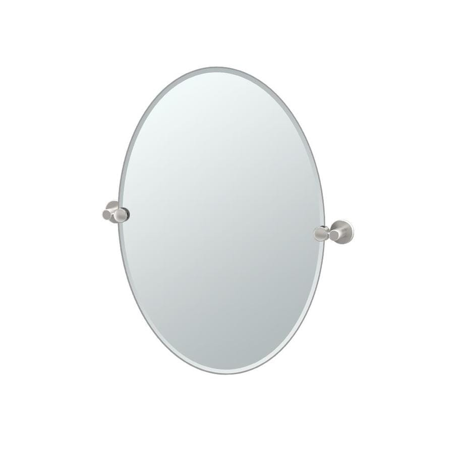 shop gatco channel 19 5 in x 26 5 in satin nickel oval