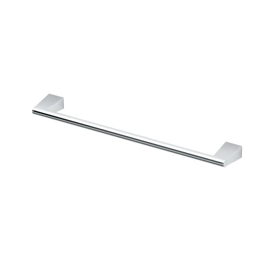 Gatco Bleu Chrome Single Towel Bar (Common: 18-in; Actual: 19.5-in)