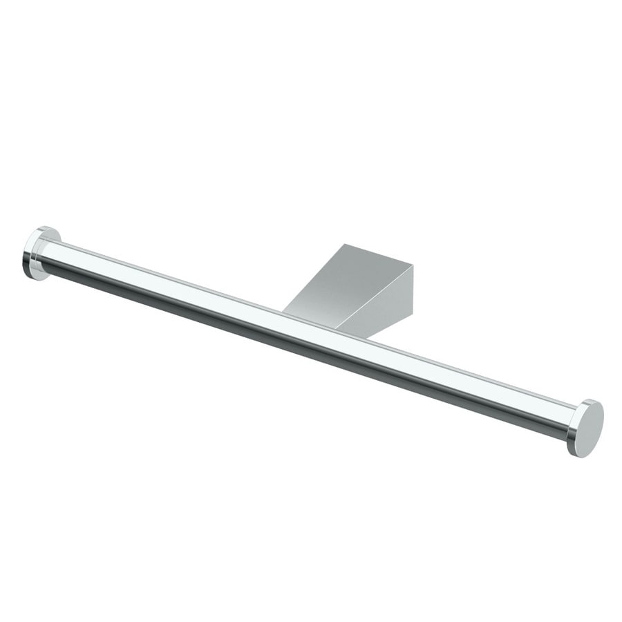 Gatco Bleu Chrome Surface Mount Single Post with Arm Toilet Paper Holder