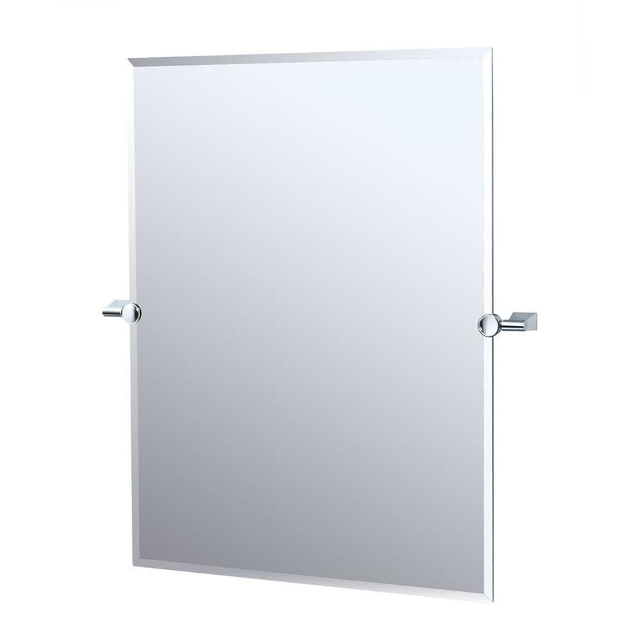 Frameless bathroom mirrors - Gatco Bleu 23 5 In X 31 5 In Rectangular Frameless Bathroom Mirror
