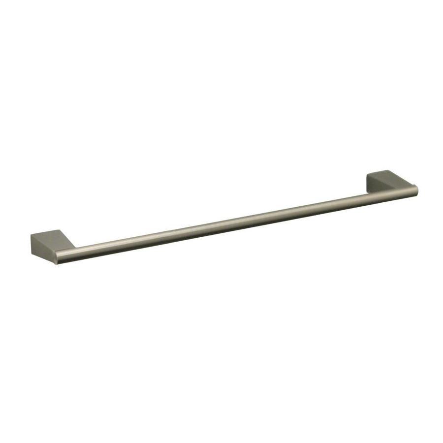Gatco Bleu Satin Nickel Single Towel Bar (Common: 18-in; Actual: 19.5-in)