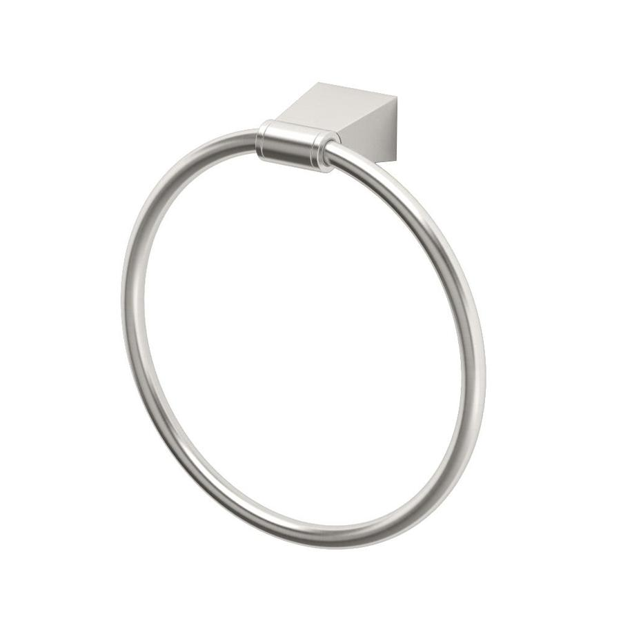 Gatco Bleu Satin Nickel Wall-Mount Towel Ring