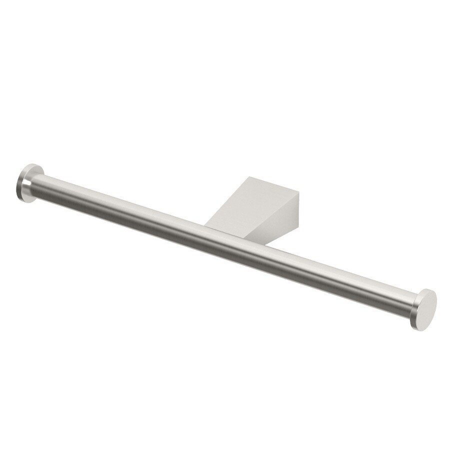 Gatco Bleu Satin Nickel Surface Mount Single Post with Arm Toilet Paper Holder