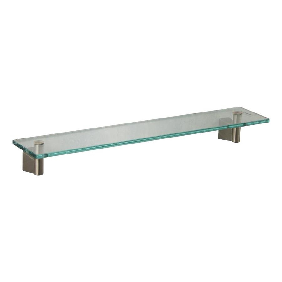 Gatco Bleu Satin Nickel Glass Bathroom Shelf
