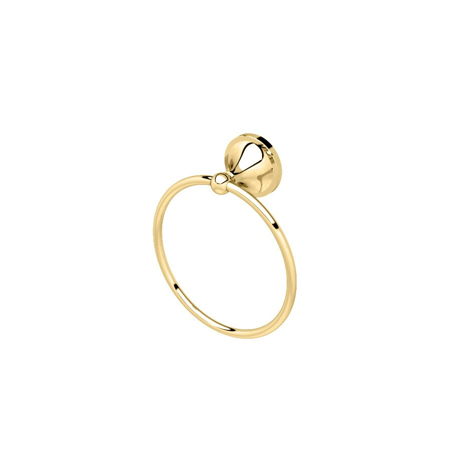 Gatco Hatton Polished Brass Wall-Mount Towel Ring