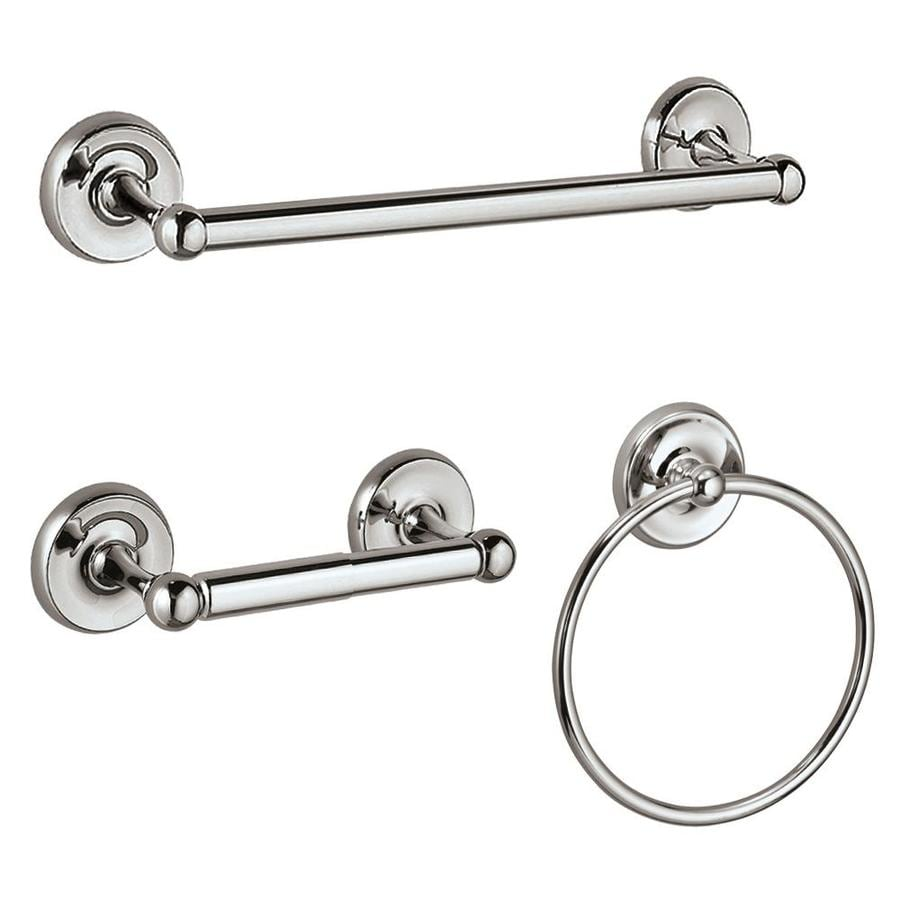 shop gatco 3-piece designer 2 chrome decorative bathroom hardware