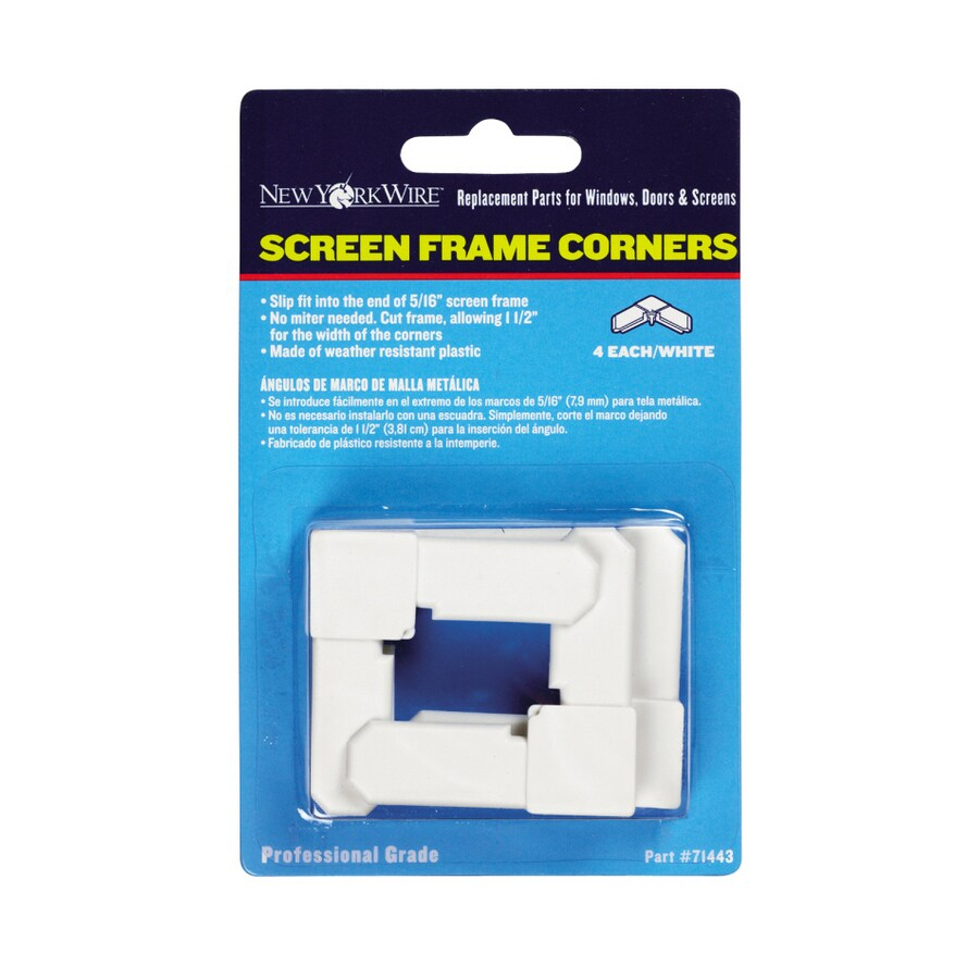 New York Wire 5/16-in White Screen Frame Corners