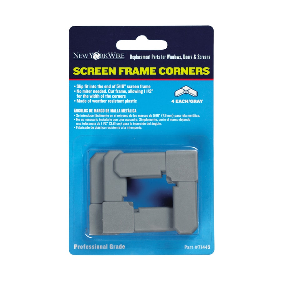 Saint-Gobain ADFORS 5/16-in Gray Screen Frame Corners