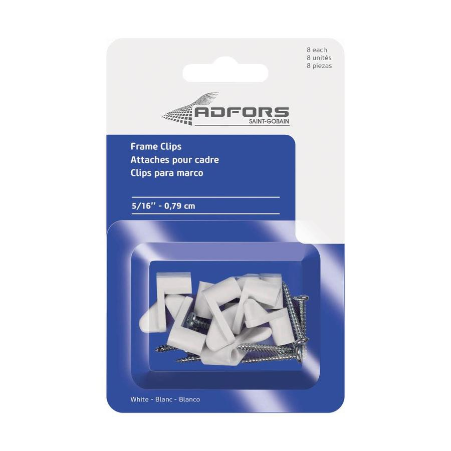 Saint-Gobain ADFORS 8-Pack 0.3125-in White Clips