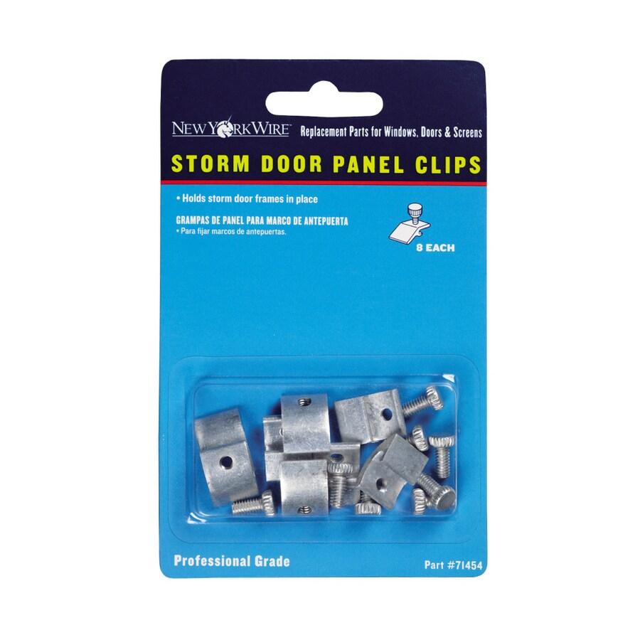 Saint-Gobain ADFORS 8-Pack 0.5-in x 0.5-in Aluminum Sliding Patio Door Panel Clip