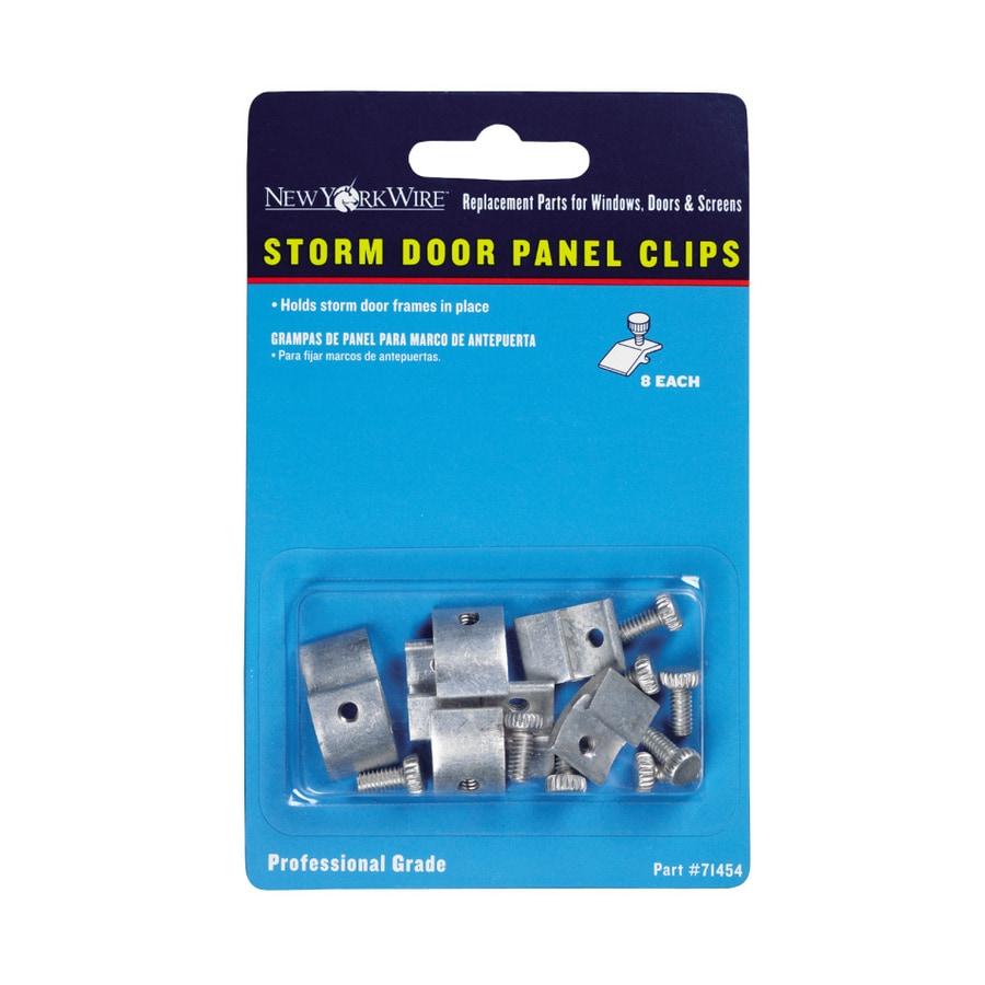 New York Wire 8-Pack 1/2-in W Aluminum Sliding Patio Door Panel Clips