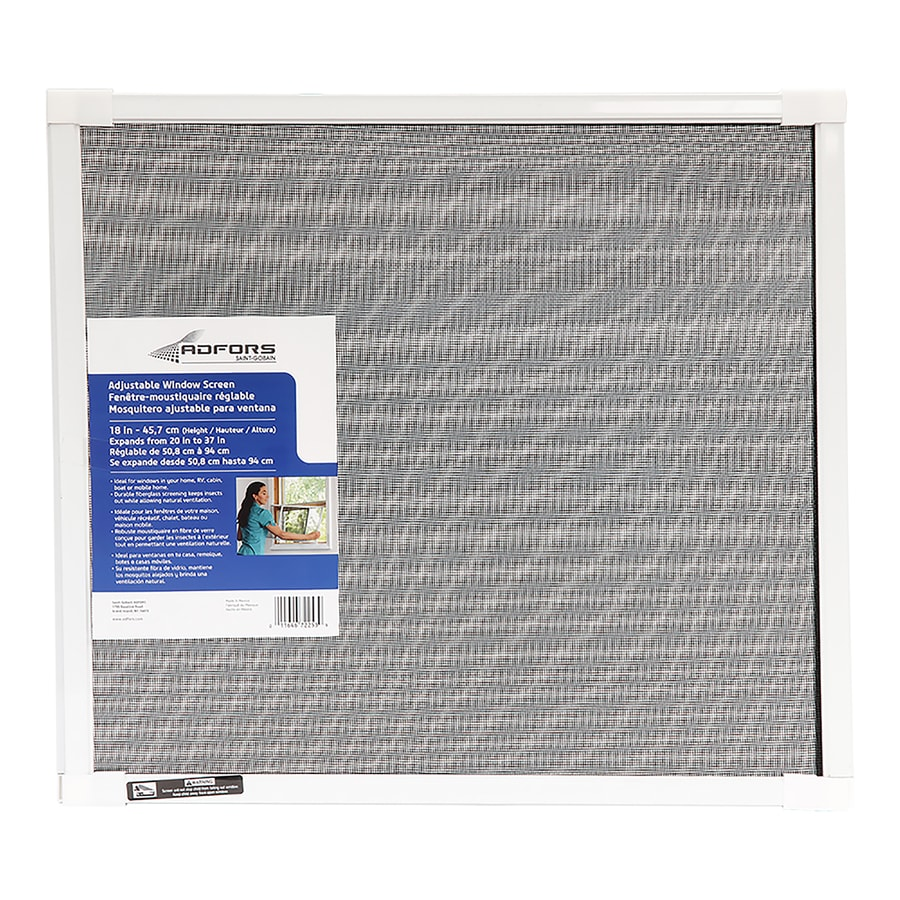 New York Wire Fiberglass 20-in x 18-in Window Screen