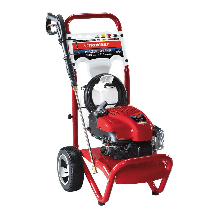 Troy Bilt 3000 Psi 2 7 Gpm Gas Pressure Washer At Lowes Com
