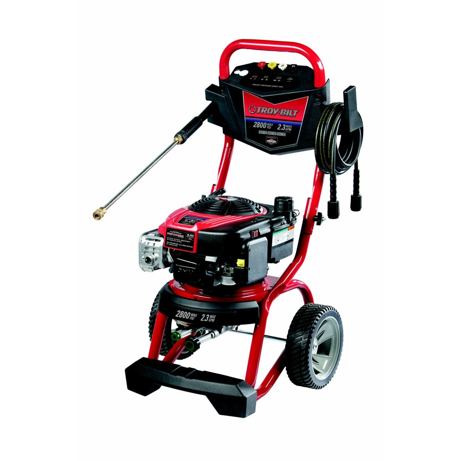 Troy Bilt 2800 Psi 2 3 Gpm Cold Water Gas Pressure Washer