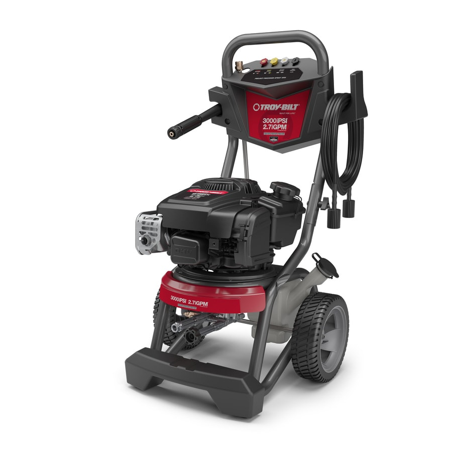 Shop Troy-Bilt 3000-PSI 2.7-GPM Cold Water Gas Pressure Washer CARB at Lowes.com