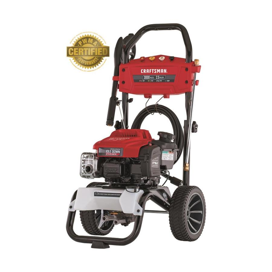 craftsman 3000-psi 2 5-gpm cold water gas pressure washer with briggs and  stratton engine carb