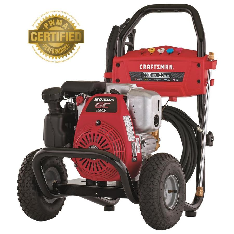 CRAFTSMAN 3300-PSI 2.3-GPM Cold Water Gas Pressure Washer CARB at Lowes.com
