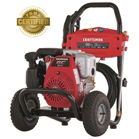 CRAFTSMAN 3300 PSI 2.3-Gallon-GPM Cold Water Gas Pressure Washer with Honda Engine CARB