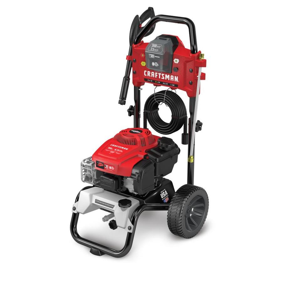 Craftsman 3100 Psi 2 5 Gpm Cold Water Gas Pressure Washer With Briggs Stratton Engine Carb In The Gas Pressure Washers Department At Lowes Com
