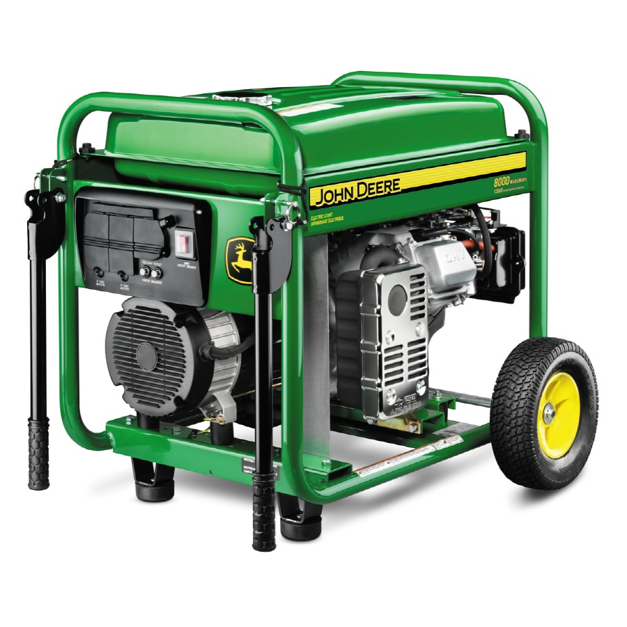 shop john deere 8 000 running watt portable generator with briggs rh lowes com John Deere Electric Generators John Deere Compressor Generator