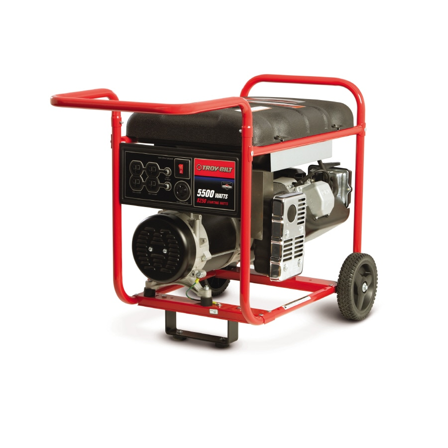 Troy-Bilt 5,500-Running Watts Portable Generator with Briggs & Stratton Engine