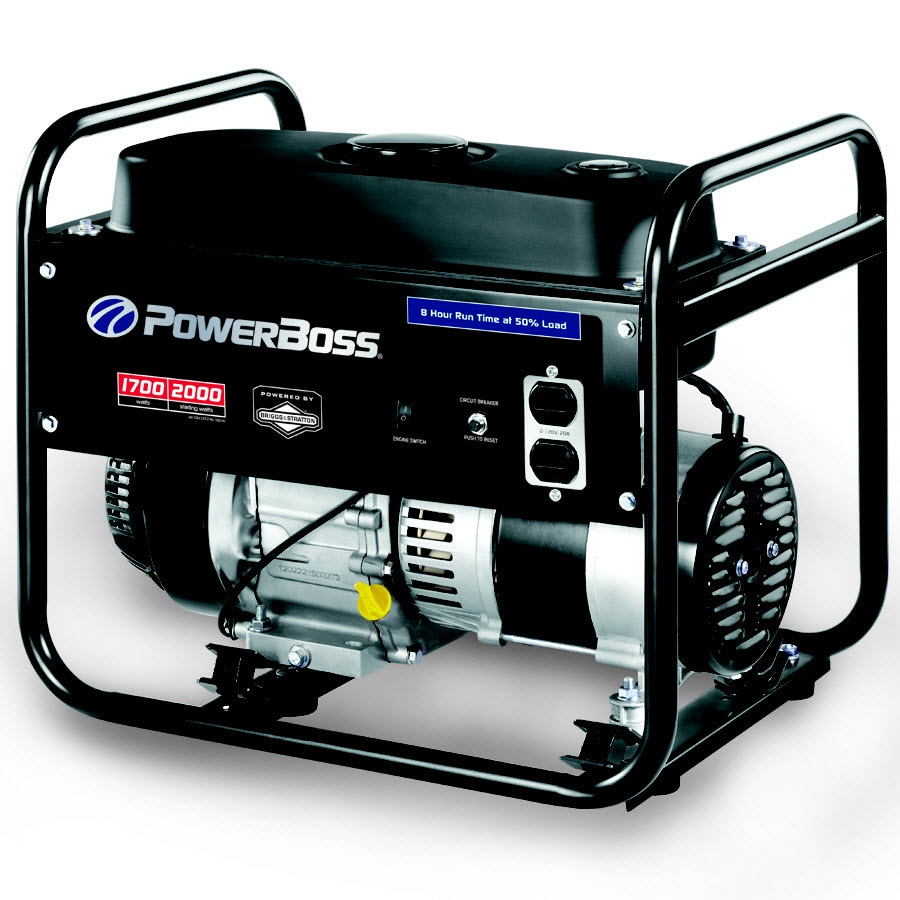 PowerBoss 1,700-Running-Watt Portable Generator with Briggs & Stratton Engine