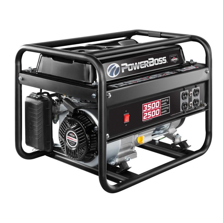 PowerBoss 2500-Running-Watt Gasoline Portable Generator with Briggs