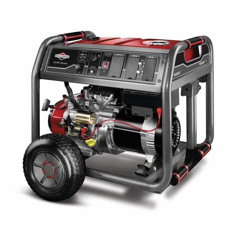 Shop Briggs Stratton Elite 8000 Running Watt Portable Generator
