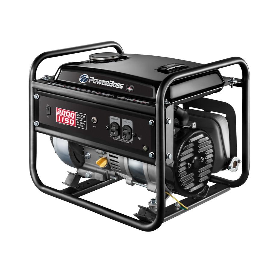 PowerBoss 1150-Running-Watt Portable Generator with Briggs and Stratton Engine
