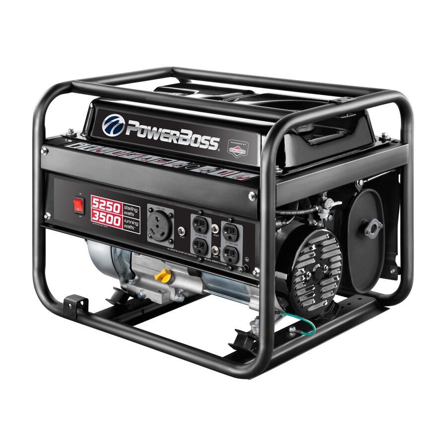 PowerBoss 3500-Running-Watt Portable Generator with Briggs & Stratton Engine