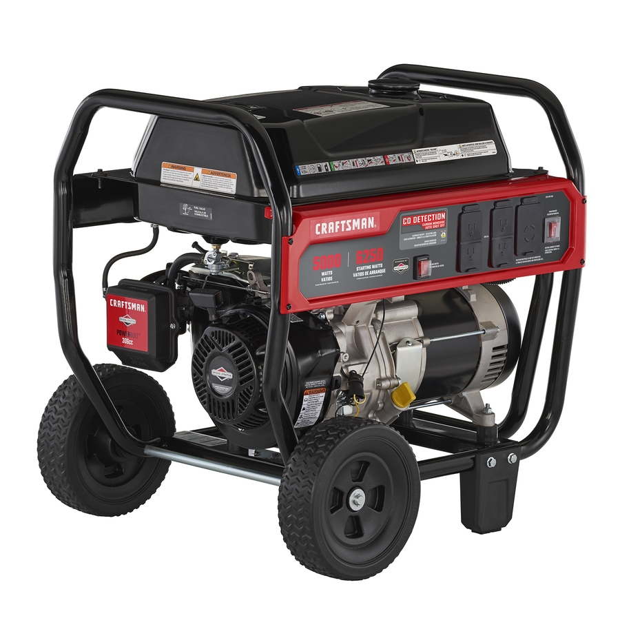 CRAFTSMAN 5000-Running-Watt Gasoline Portable Generator with Briggs