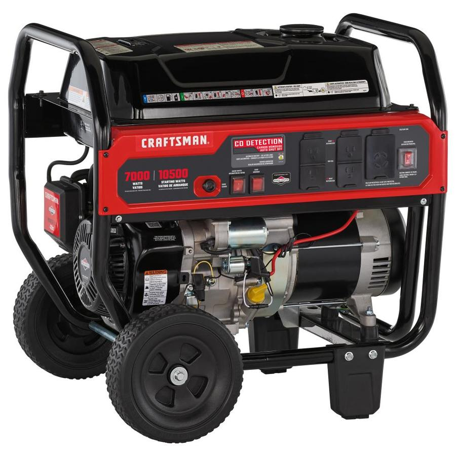 CRAFTSMAN 7000-Running-Watt Gasoline Portable Generator with Briggs