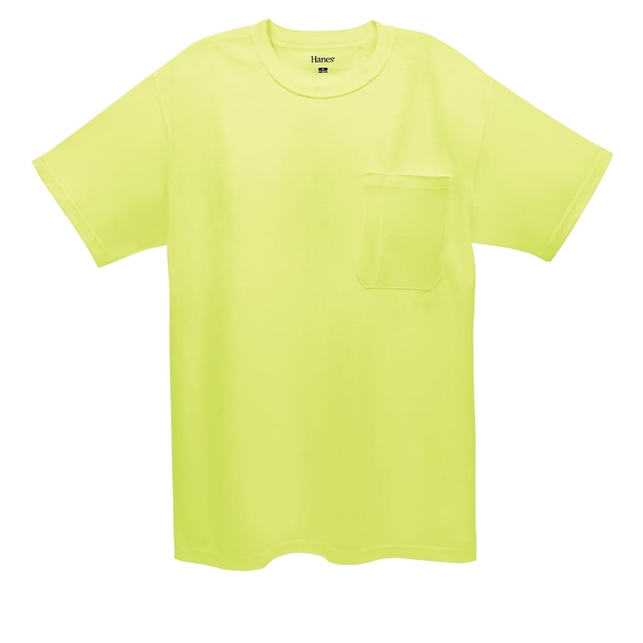 Hanes X-Large Safety Green Tagless T-Shirt