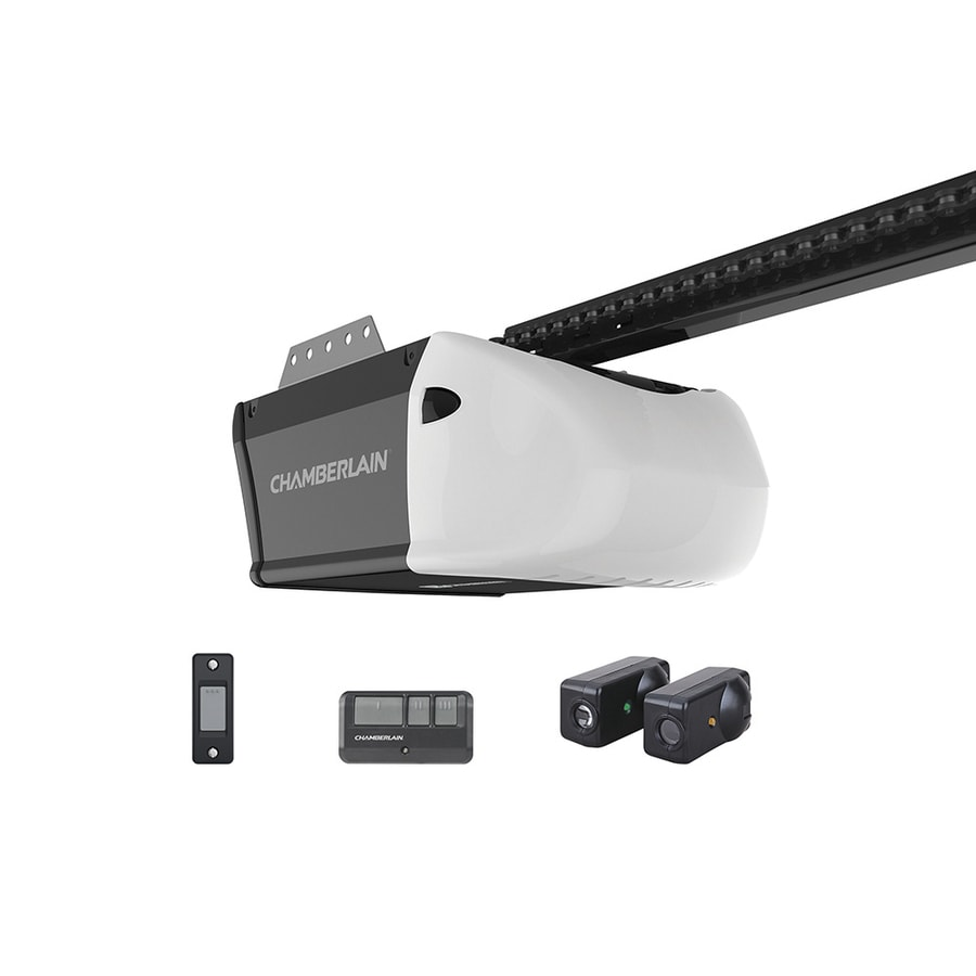Chamberlain 1 25 Hp Myq Smart Belt Drive Garage Door Opener With Myq And Wi Fi Compatibility And Battery Back Up In The Garage Door Openers Department At Lowes Com