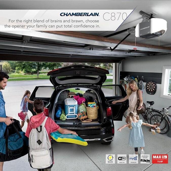 Chamberlain 1.25-HP MyQ Smart Chain Drive Garage Door