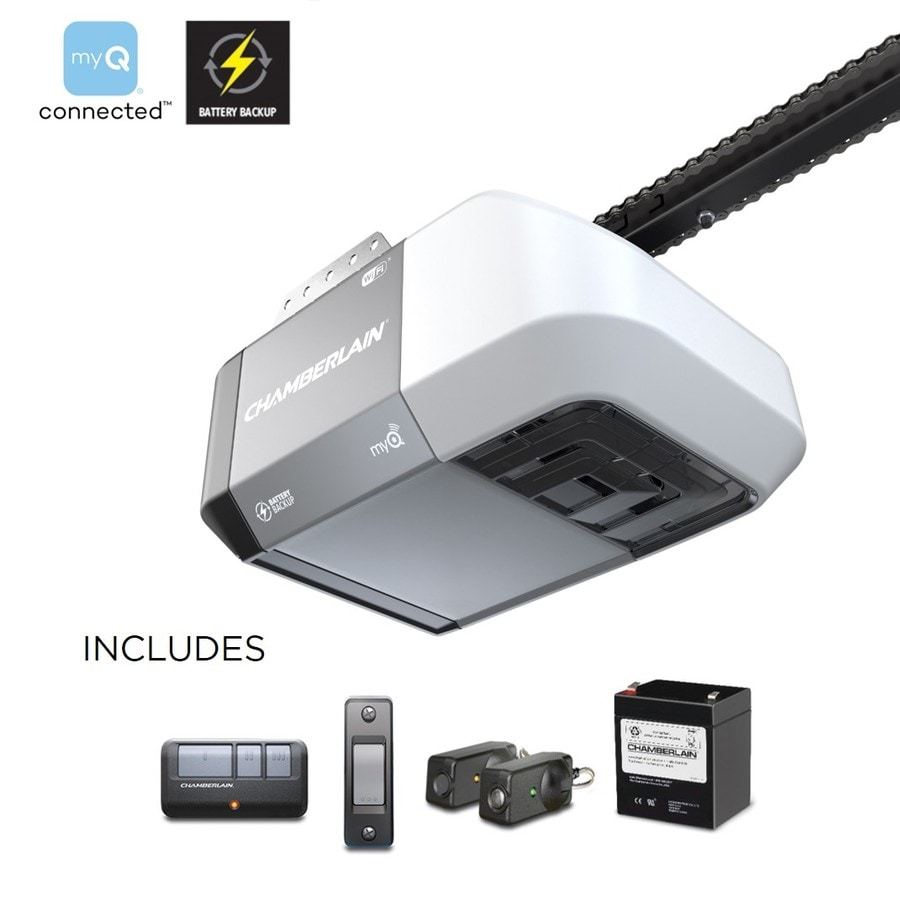 Garage Door Opener Led Lights: Chamberlain 0.5-HPChain Drive Garage Door Opener Works