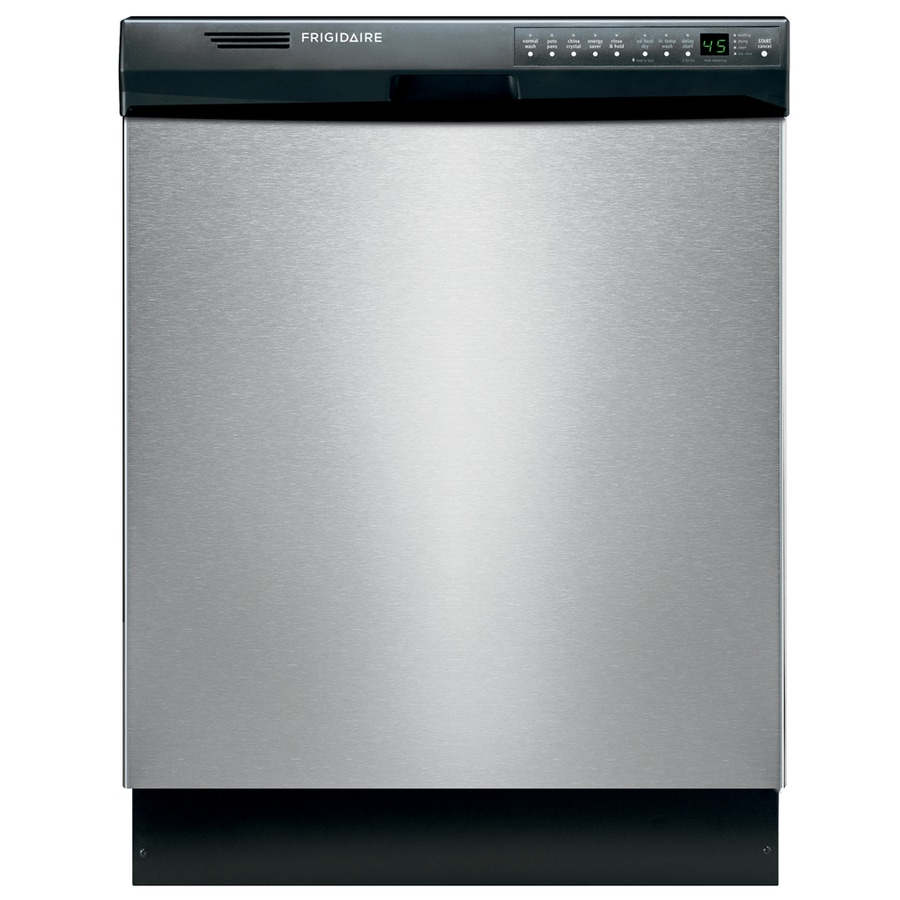 Frigidaire 55-Decibel Built-In Dishwasher and Hard Food Disposer (Stainless steel) (Common: 24-in; Actual: 24-in) ENERGY STAR