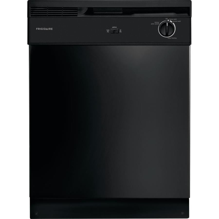 Frigidaire 62-Decibel Built-In Dishwasher with Hard Food Disposer (Black)