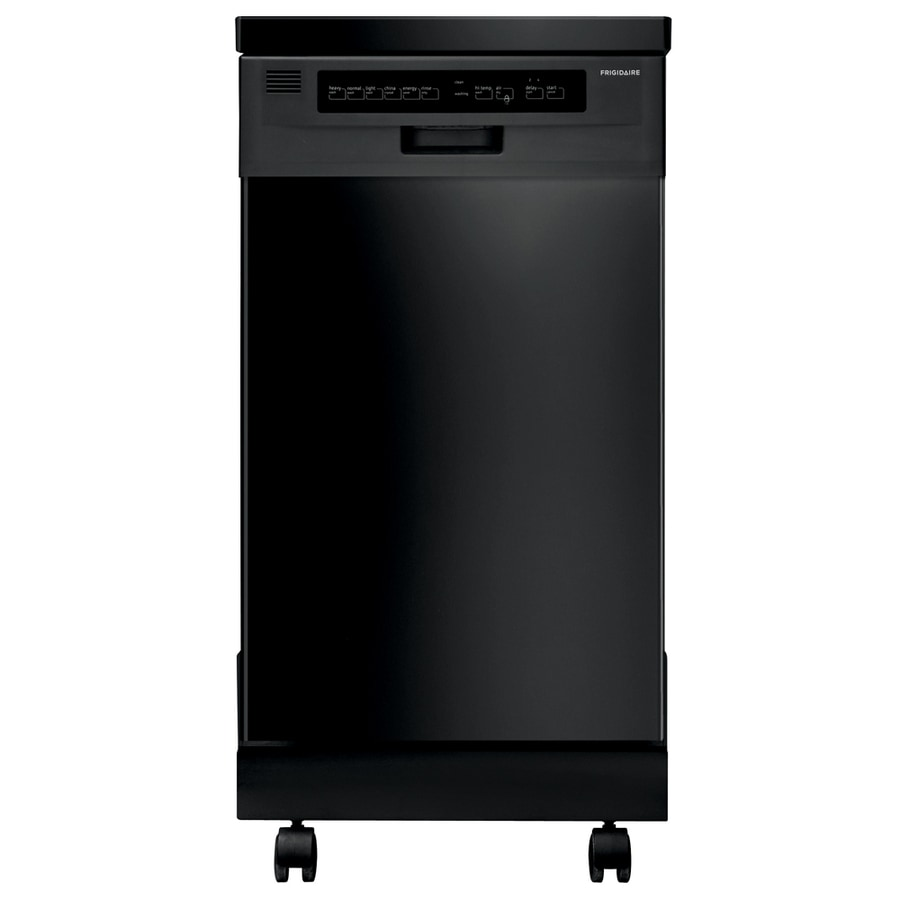 Shop Frigidaire 20.5-in Black Portable Dishwasher With