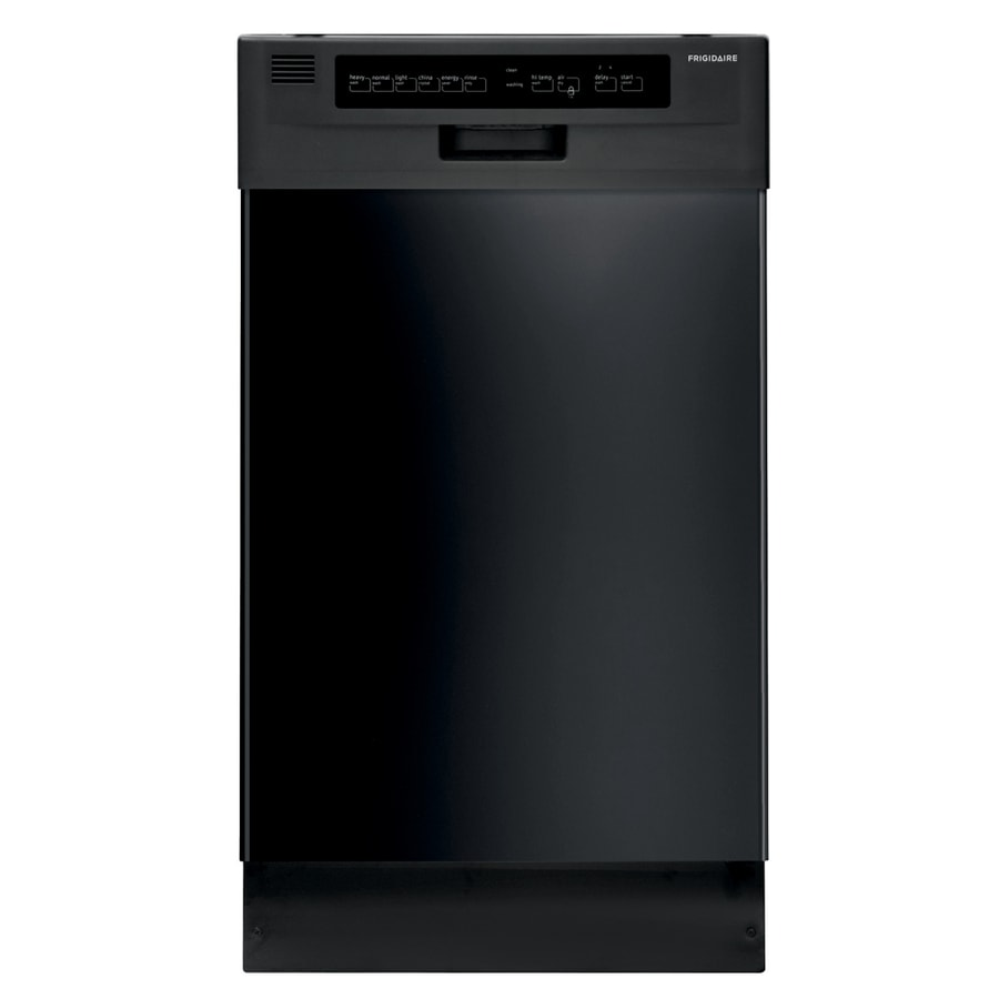 Shop Whirlpool 55 Decibel Built In Dishwasher Black On: Shop Frigidaire 18-in Black Front Control Dishwasher With
