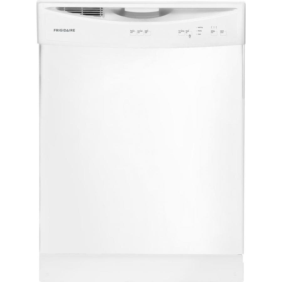 Frigidaire 60-Decibel Built-in Dishwasher with Hard Food Disposer (White) (Common: 24-in; Actual: 24-in)