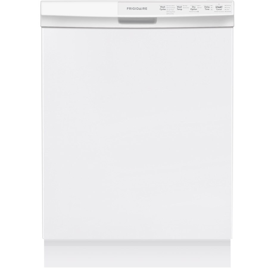 Frigidaire 55-Decibel Built-in Dishwasher with Hard Food Disposer (White) (Common: 24-in; Actual: 24-in) ENERGY STAR
