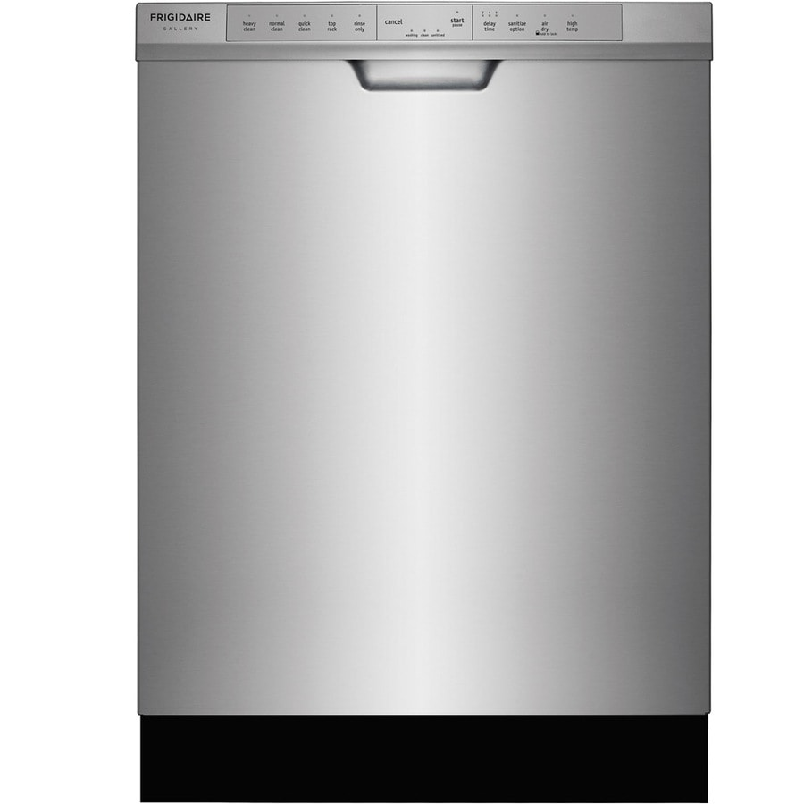 Frigidaire Gallery 54-Decibel Built-in Dishwasher (Silver) (Common: 24-in; Actual: 24-in) ENERGY STAR